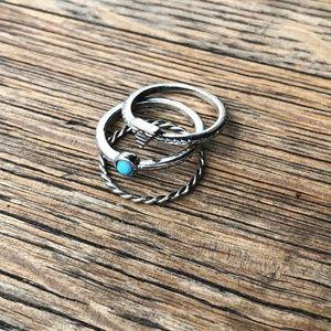 3 Midi Ring Set